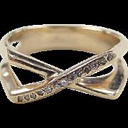 Vintage 14k Gold Diamond Ring