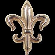 Vintage 14k Gold Fleur De Lis Pin / Pendant