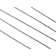"Vintage 14k White Gold Sparkling Chain ~ 18"" ~ 1.9 Grams"
