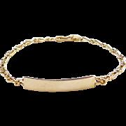 """Vintage 14k Gold ID Bracelet 7 1/2"""""""