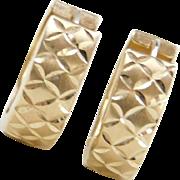 Vintage 14k Gold Huggie Hoop Earrings