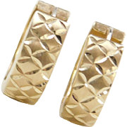 Vintage 14k Gold Huggie Hoop Earrings