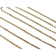 "Vintage 14k Gold LONG Diamond Cut Rope Chain 38"" ~ 31.6 Grams"