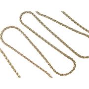 "Vintage 14k Gold LONG Wheat Link Chain 30"" ~ 28.4 Grams"