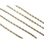 "Vintage 14k Gold Diamond Cut Rope Chain ~ 16"" ~ 7.4 Grams"