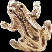 Vintage 14k Gold Men's Frog Tie Tack / Pin
