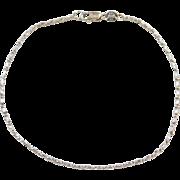 "Vintage 14k White Gold Bracelet ~ 7 1/2"""