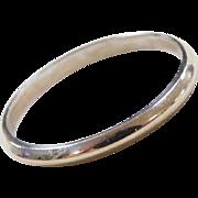 Vintage 14k White Gold Thin Band Ring
