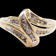 Vintage 10k Gold Diamond Ring