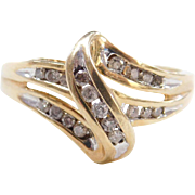 Vintage 10k Gold Diamond Ring
