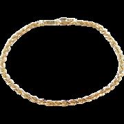 "Vintage 14k Gold Diamond Cut Rope Bracelet ~ 7"""