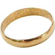 Vintage 24k Fine Gold Band Ring
