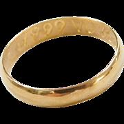 Vintage 24k Fine Gold Band Ring