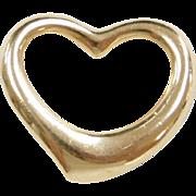 Vintage 18k Gold Open Heart Pendant