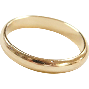 Vintage 18k Gold Band Ring