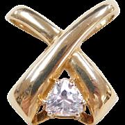 Vintage 10k Gold Faux Diamond Pendant