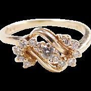 Vintage 14k Gold .24 ctw Diamond Ring
