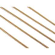 "Vintage 14k Gold LONG Curb Link Chain ~ 24"" ~ 7.7 Grams"
