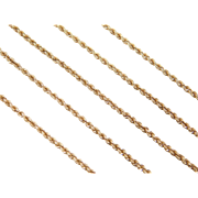 """Vintage 14k Gold Rope Chain ~ 20"""" ~ 4.5 Grams"""