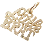 Vintage 14k Gold Little Brat Charm