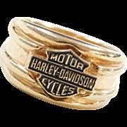 Vintage 10k Gold Harley-Davidson Motorcycles Ring