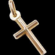 Vintage 14k Gold Cross Pendant / Charm