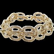 """Vintage 14k Gold Wide Bracelet ~ 7"""""""