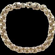 """Vintage 14k Gold Link Bracelet ~ 7"""""""
