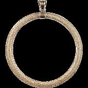 Vintage 14k Gold Big Circle Pendant