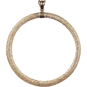 Vintage 14k Gold Big Circle Pendant