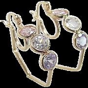 Vintage 14k Gold Colorful Hoop Earrings
