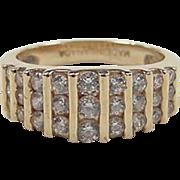 Vintage 14k Gold Faux Diamond Ring