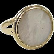 Vintage 14k Gold Mother of Pearl Ring