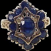 Vintage 10k Gold Sapphire Ring