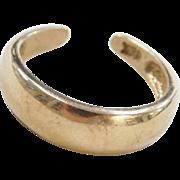 Vintage 18k Gold Toe Ring