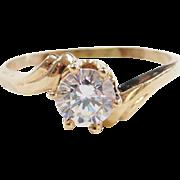 Vintage 14k White Spinel Ring