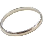 Vintage 18k White Gold Band Ring