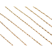 "Vintage 18k Gold Sparkling Twisted Serpentine Chain ~ 20"" ~ 3.3 Grams"