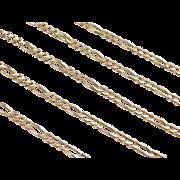 "Vintage 14k Gold Figaro Link Chain ~ 19"" ~ 7.1 Grams"