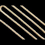 "Vintage 14k Gold Diamond Cut Rope Chain ~ 20"" ~ 3.9 Grams"