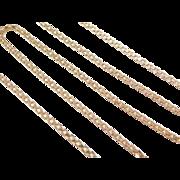 "Vintage 14k Gold Chain ~ 20"" ~ 5.3 Grams"