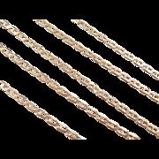 "Vintage 14k Gold Flat Marine Anchor Link Chain ~ 22"" ~ 6.3 Grams"