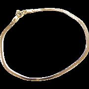 """Vintage 14k Gold Flat Bracelet ~ 7"""""""