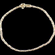 """Vintage 14k Gold Sparkling Twisted Serpentine Bracelet ~ 7"""""""