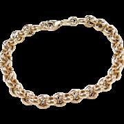 """Vintage 14k Gold Rolo Link Bracelet ~ 7 1/4"""""""