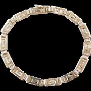 """Vintage 14k Gold Greek Key Bracelet ~ 7 1/4"""""""