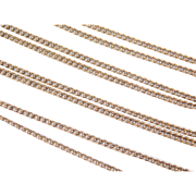Vintage 14k Gold Long Curb Link Chain ~ 28' ~ 5.3 Grams