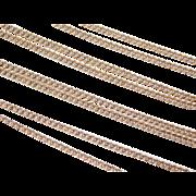 Vintage 14k Gold Long Curb Link Chain ~ 28' ~ 5.3 Grams