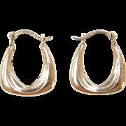 Vintage 14k Gold Small Hoop Earrings