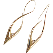 Vintage 14k Gold Long Earrings